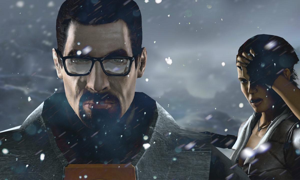 Half-Life 3 Gordon Freeman in snow wallpaper