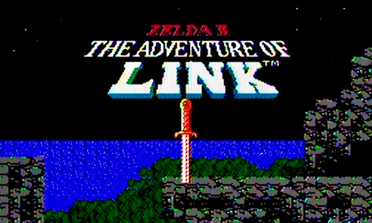 Zelda 2 The Adventure of Link intro screen