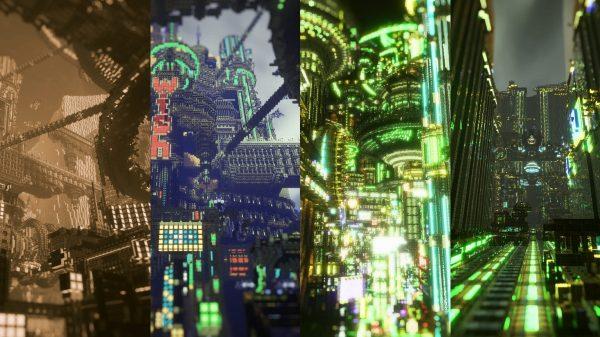 Crazy Minecraft Cyberpunk City