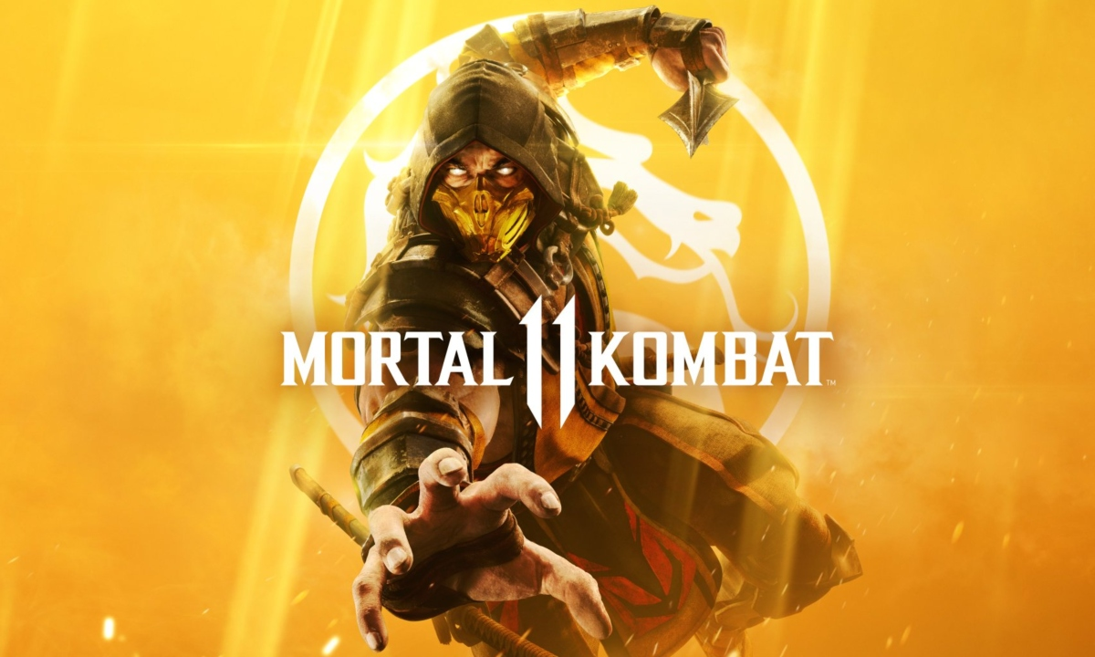 Mortal Kombat 11 official Cover art with Scorpion