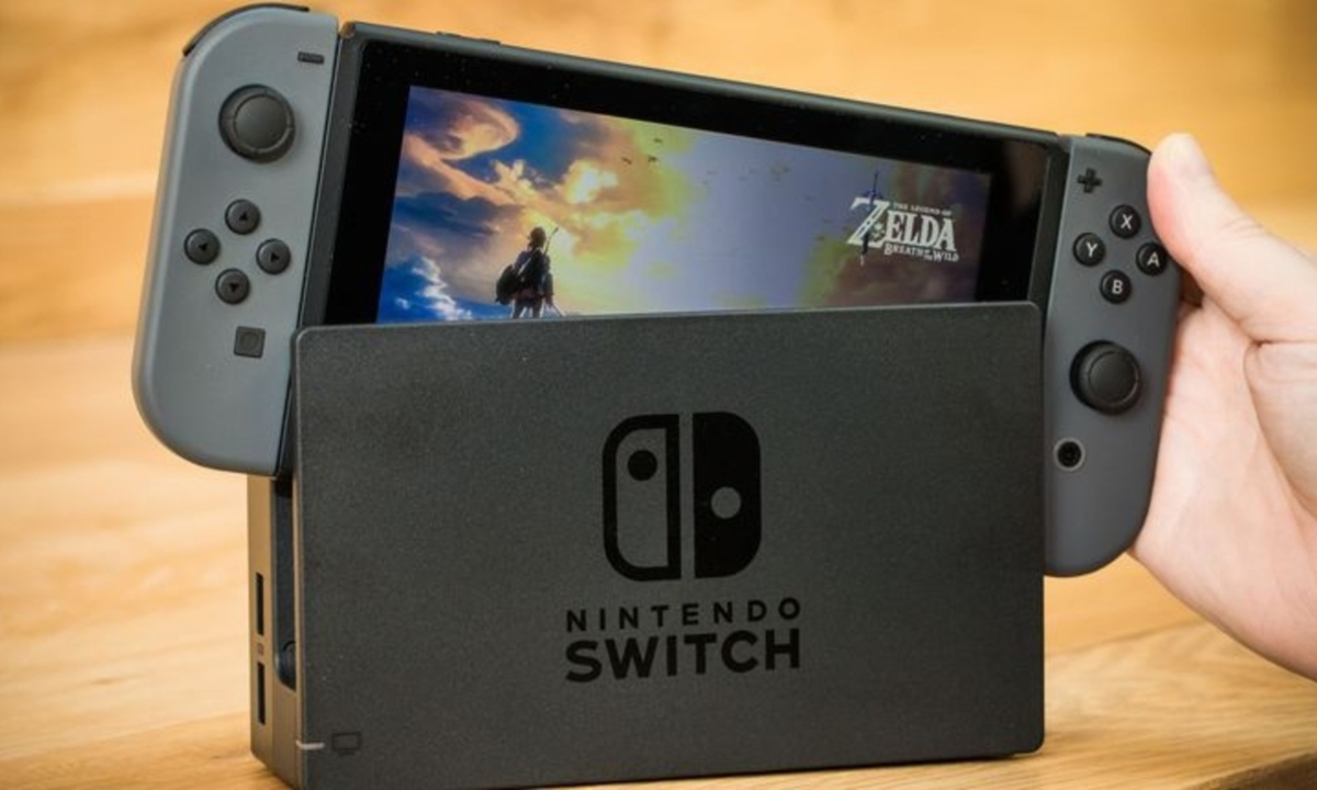 Nintendo Switch with Zelda Breath of the Wild