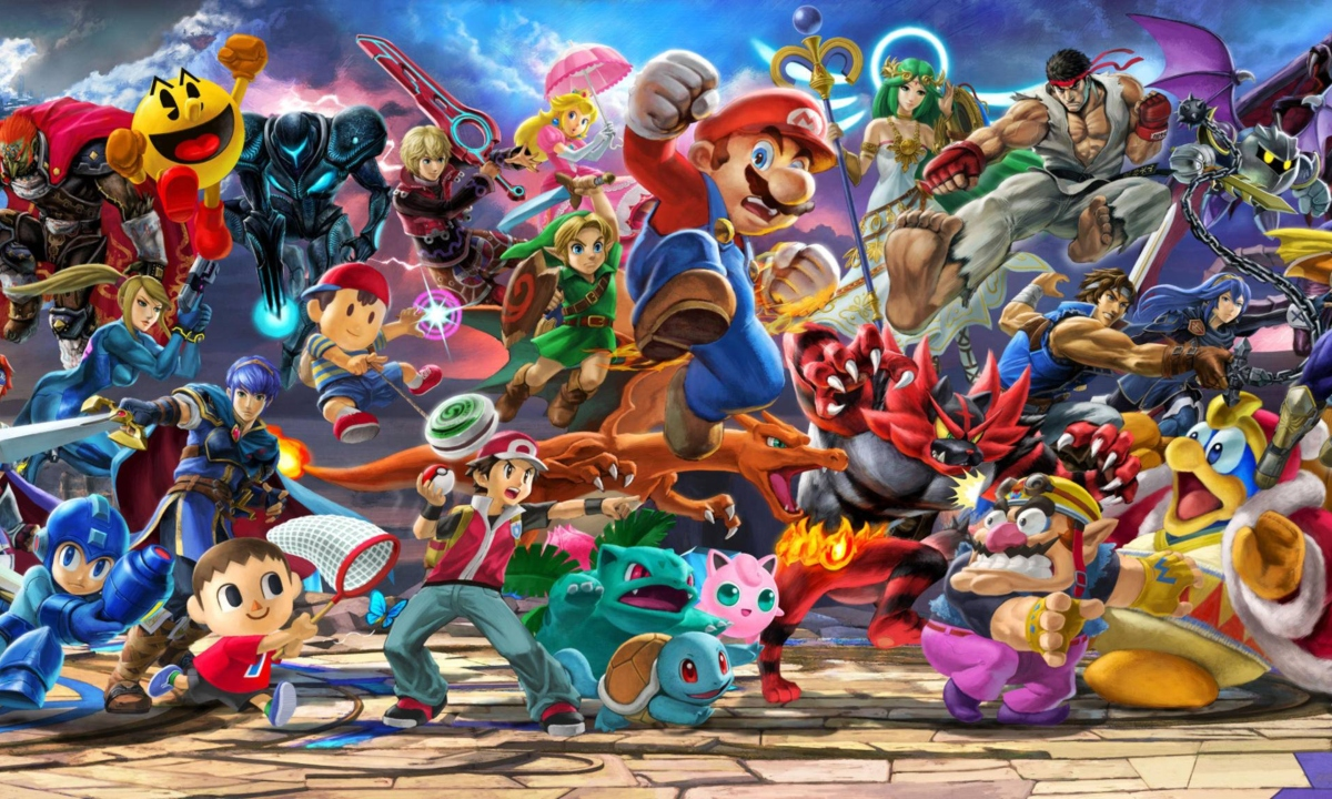Super Smash Bros. Ultimate cast ensemble