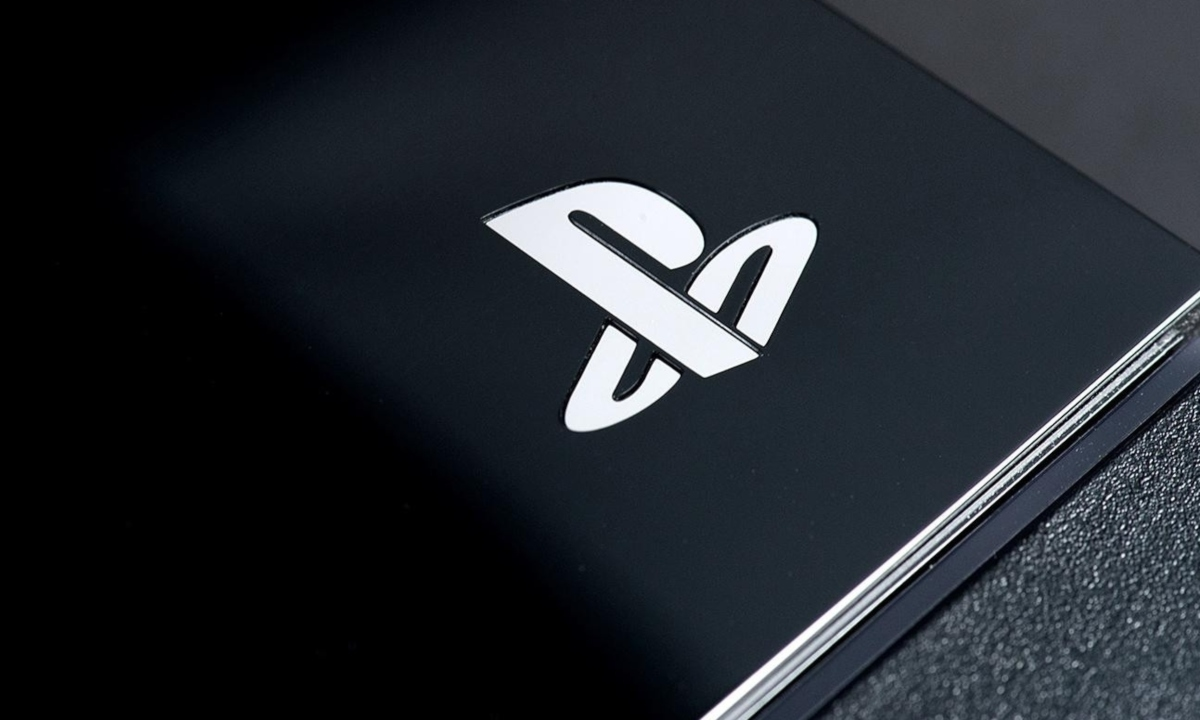 PlayStation logo, white on black
