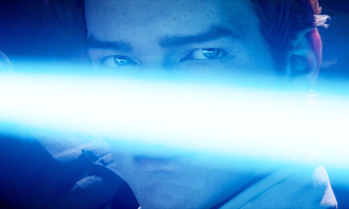 Cal holding his lightsaber in Star Wars Jedi: Fallen Order